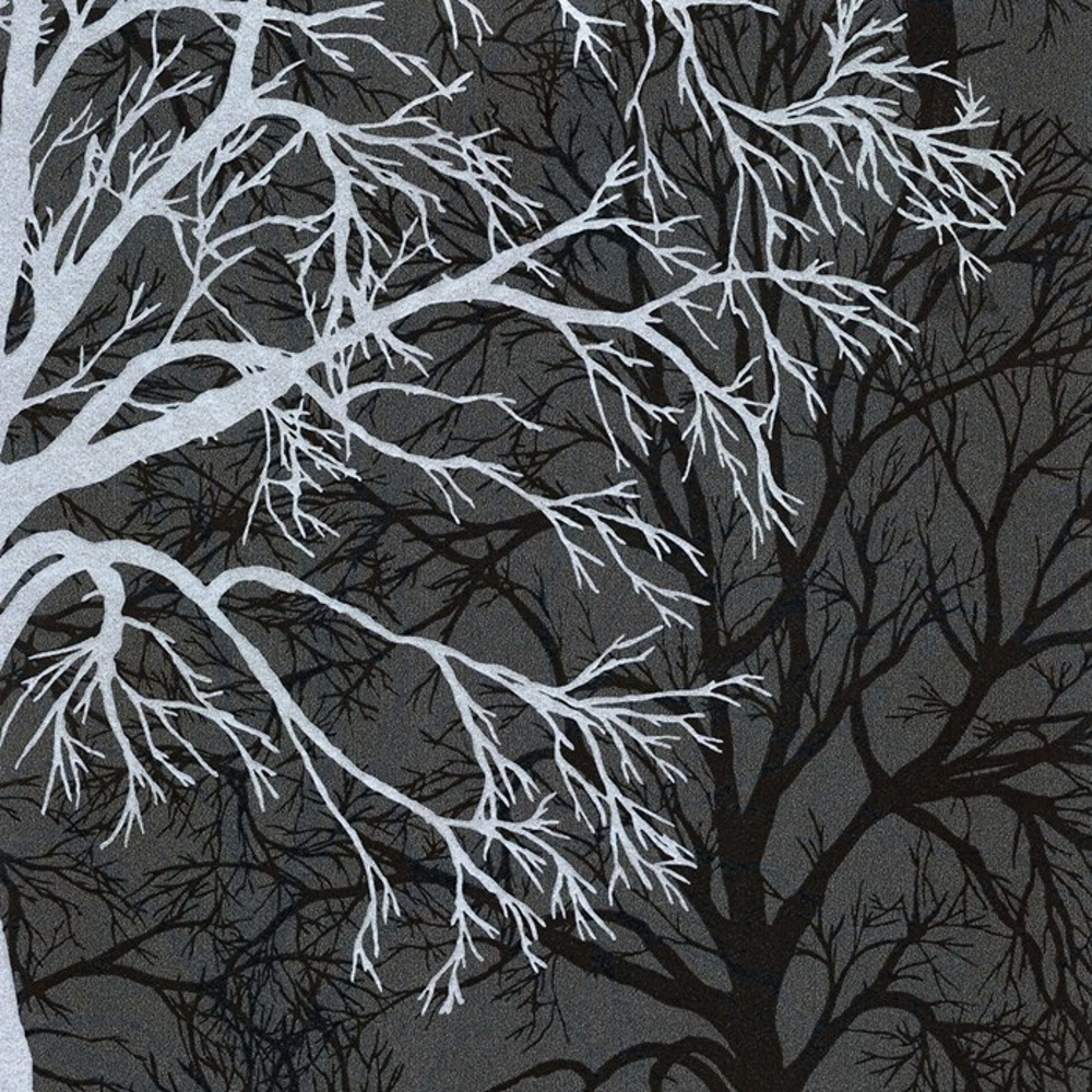 Wallpaper for walls silver glitter glitter and silver on pinterest - Graham Amp Brown Gothic Silver Black Tree Pattern Motif