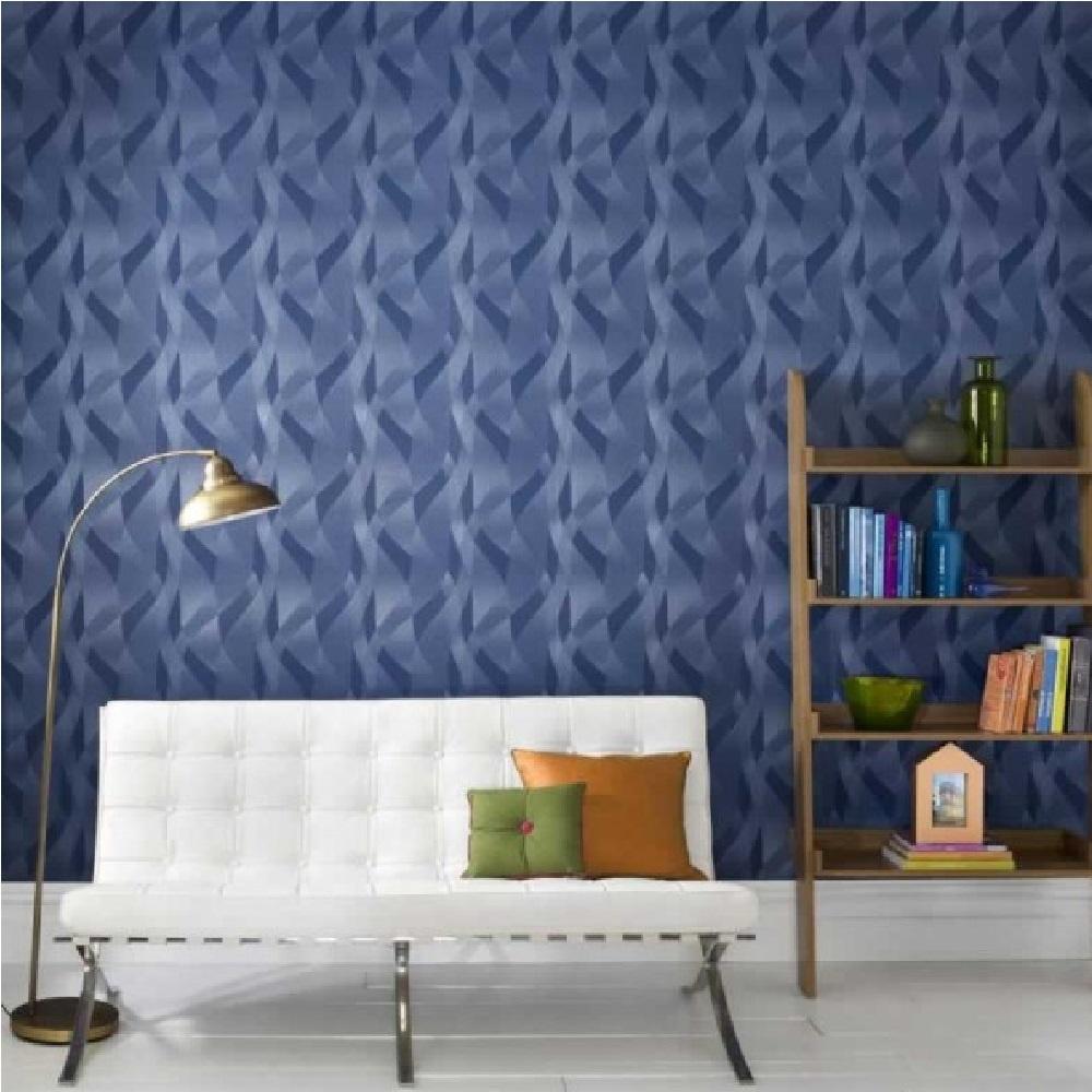 Graham & Brown Interlace Geometric Wave Vinyl Wallpaper