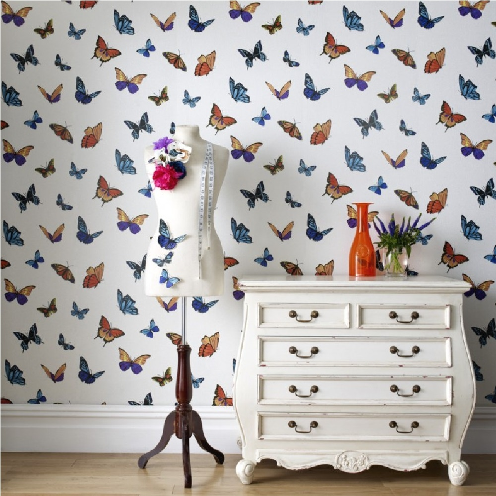 Graham brown julien macdonald flutterby butterfly for Papel de pared decorativo