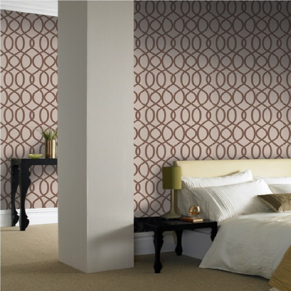 graham brown kelly hoppen knightsbridge flock geometric. Black Bedroom Furniture Sets. Home Design Ideas