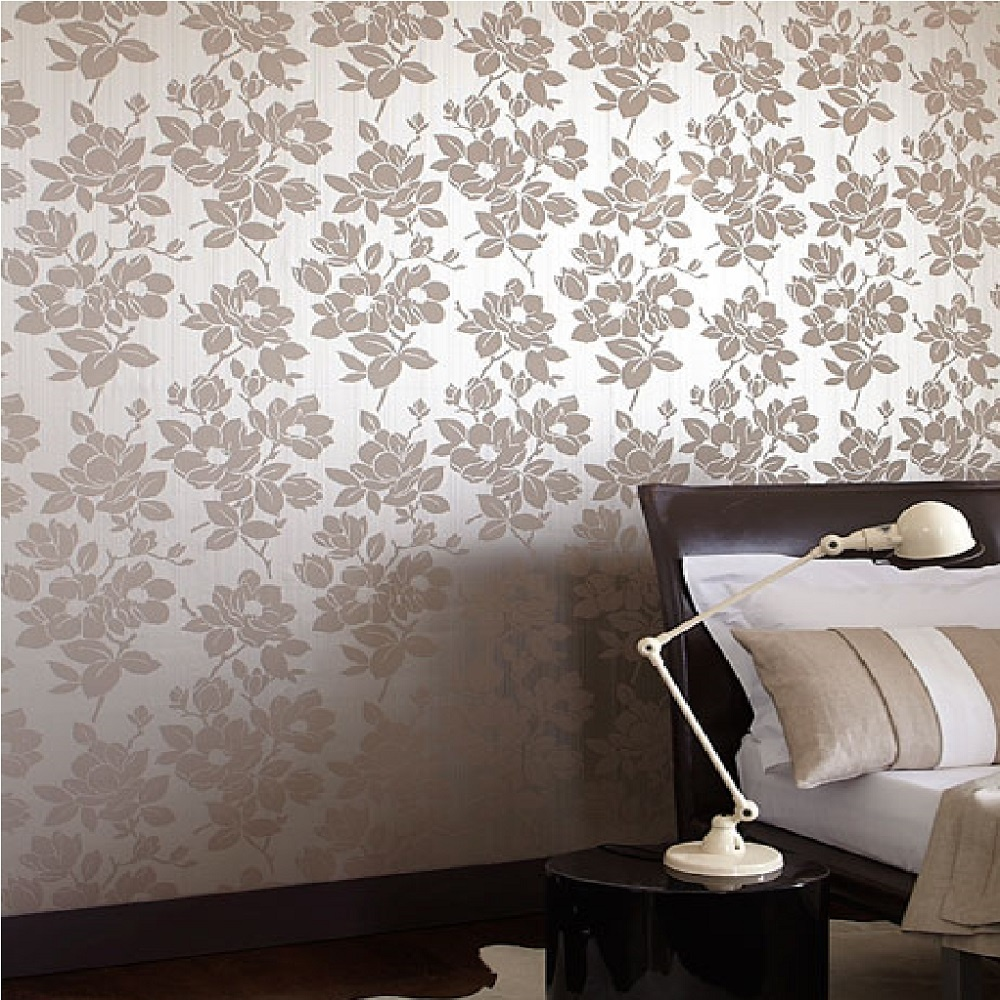Graham Brown Kelly Hoppen Rose Floral Metallic Wallpaper 30 395