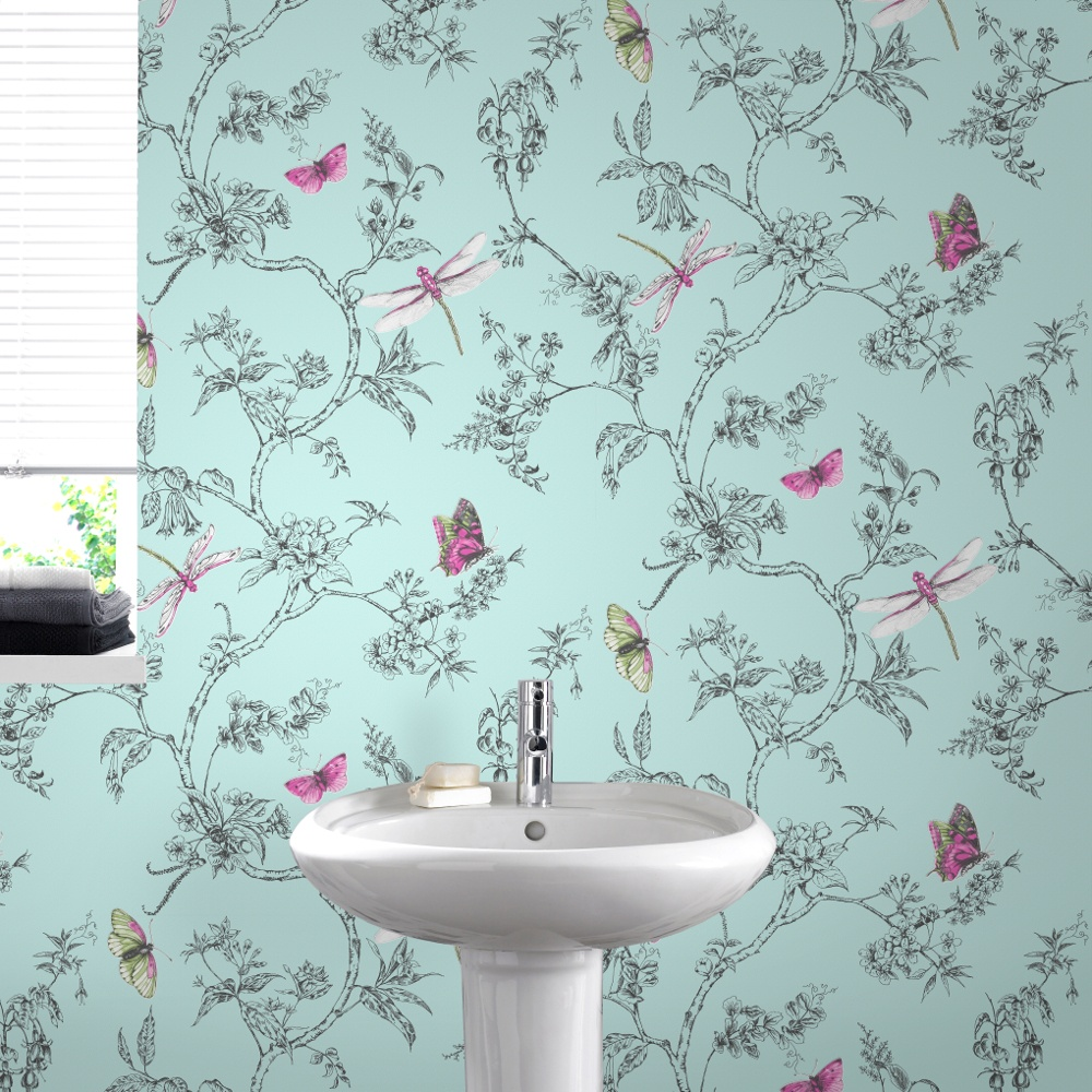 Graham amp brown nature trail butterfly floral pattern wallpaper 33 002