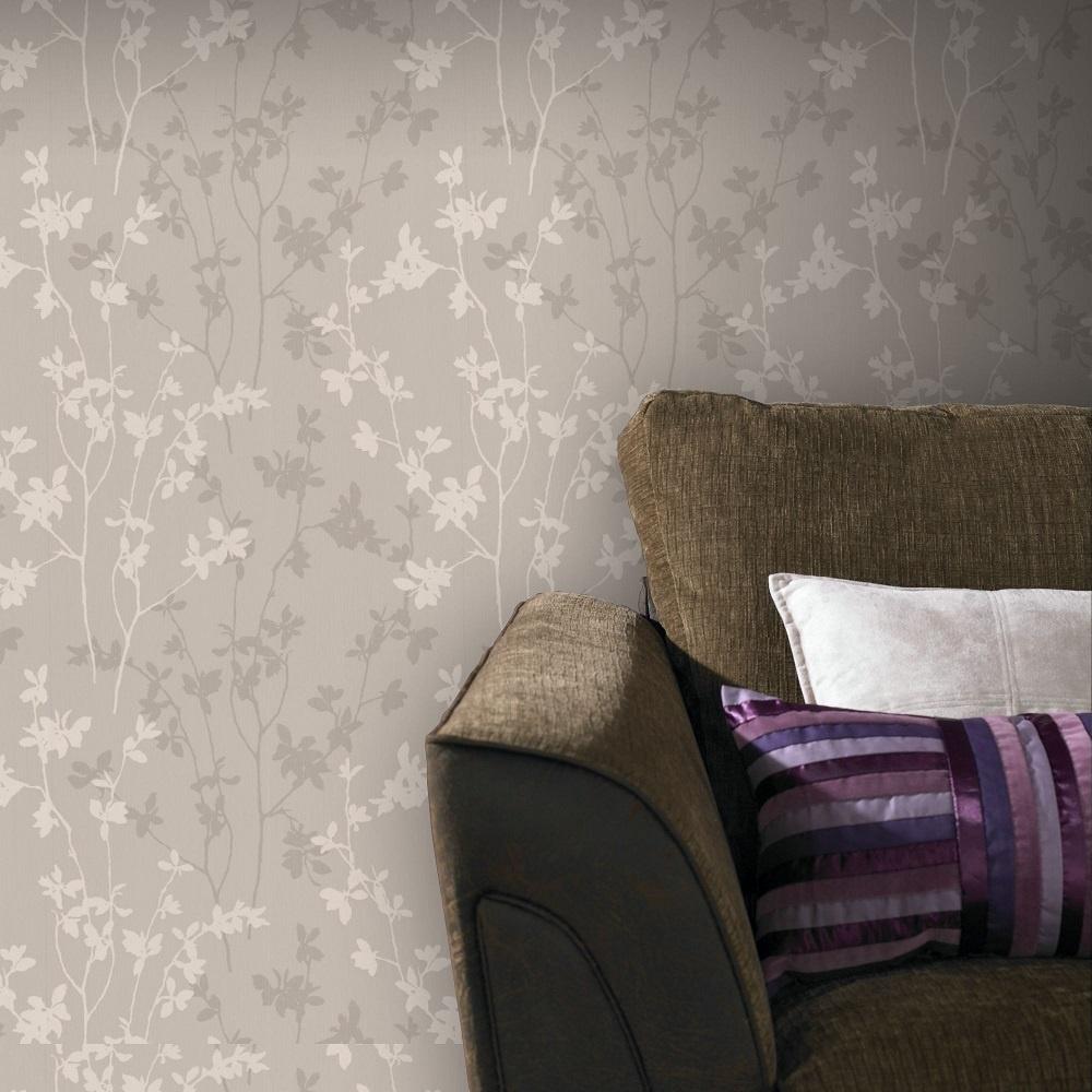 graham brown superfresco nature taupe leaf trail. Black Bedroom Furniture Sets. Home Design Ideas