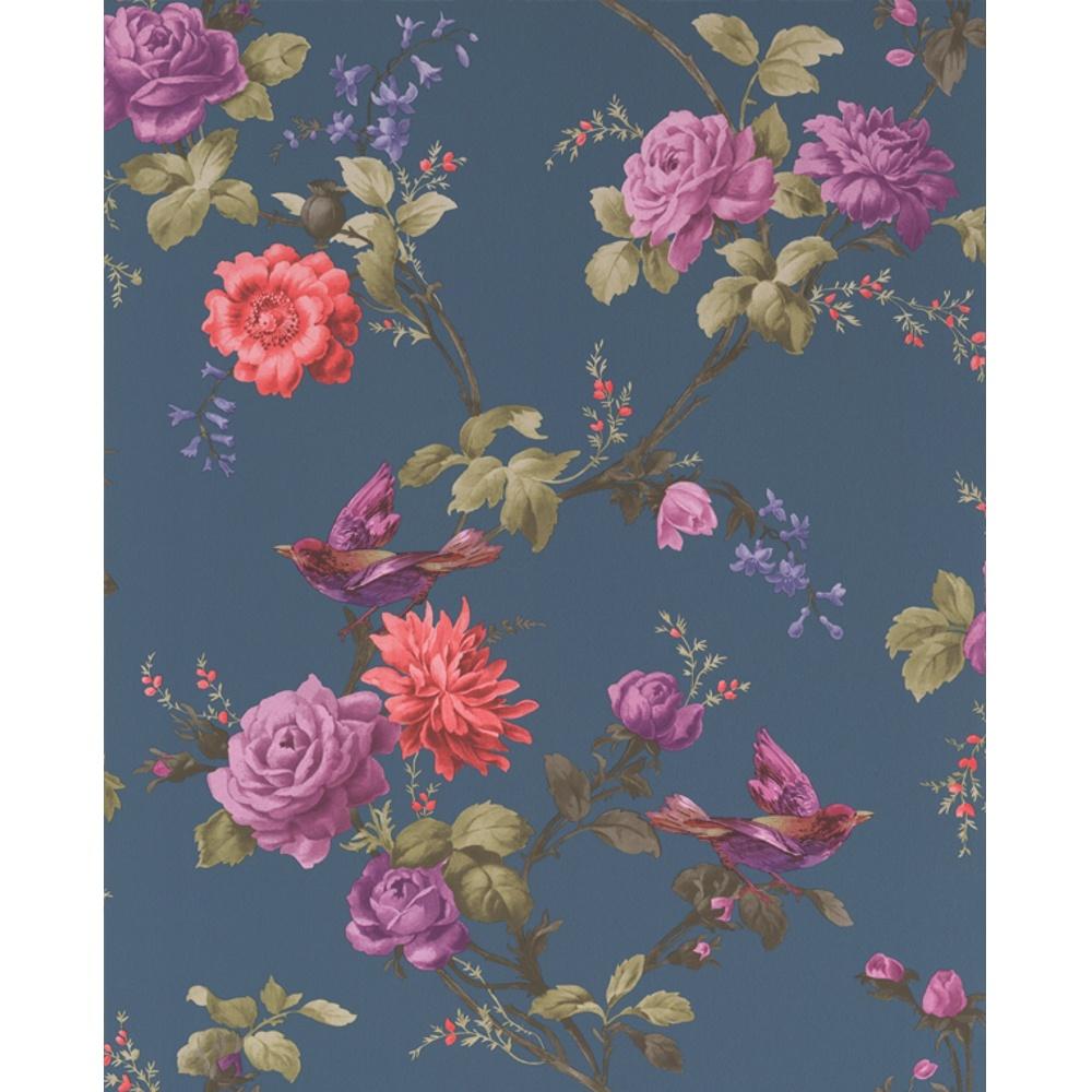 Graham amp brown oriental bird motif flower floral leaf wallpaper 50 661