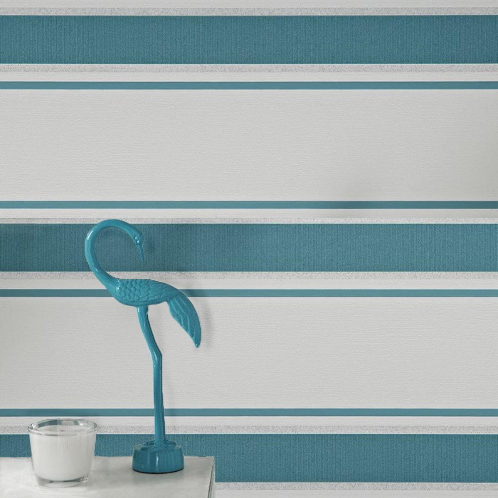 Graham brown orla striped pattern glitter motif vinyl for Striped vinyl wallpaper