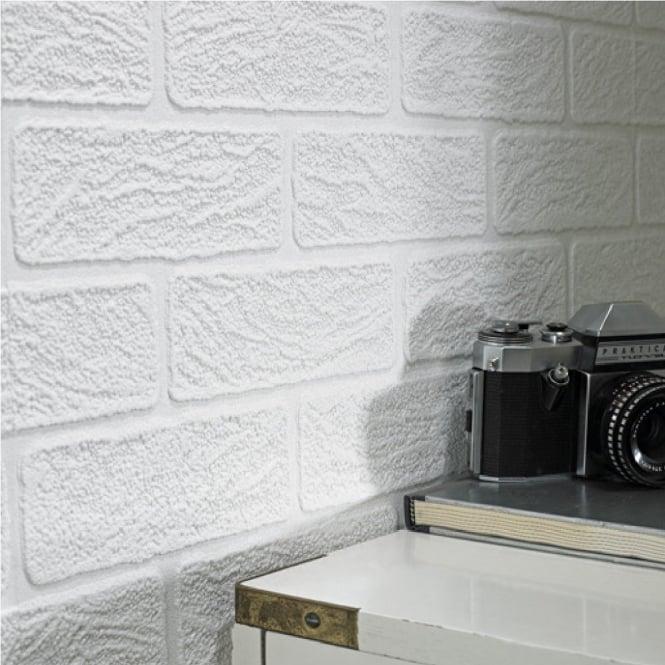 Graham Amp Brown Paintable White Brick Effect Vinyl