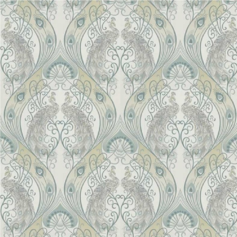 Graham brown luxury pendleton peacock feather damask for Graham and brown bathroom wallpaper
