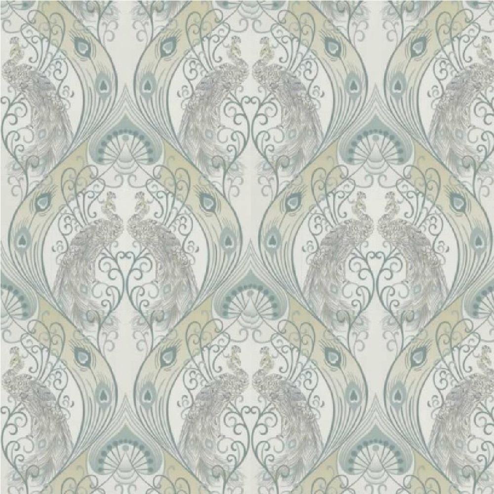 graham brown luxury pendleton peacock feather damask. Black Bedroom Furniture Sets. Home Design Ideas