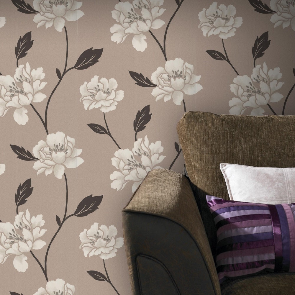 graham brown superfresco peony textured floral wallpaper