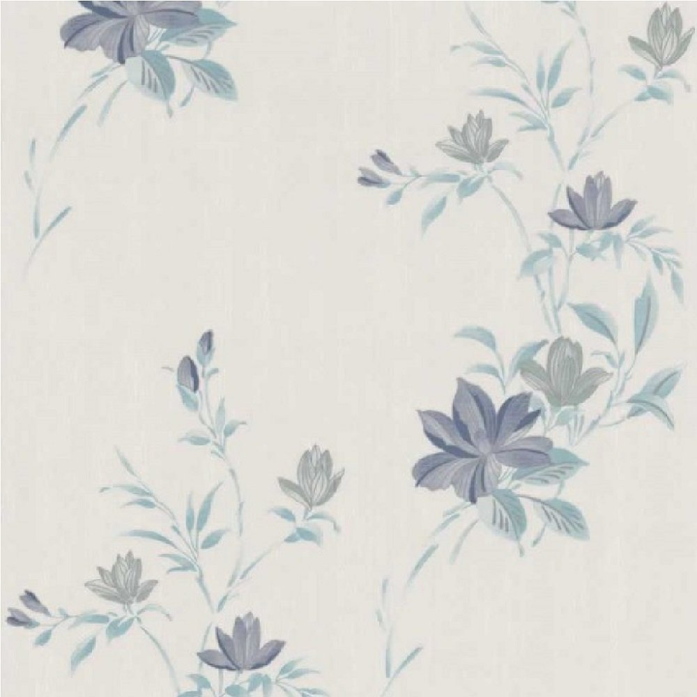 graham brown reed floral trail metallic textured vinyl
