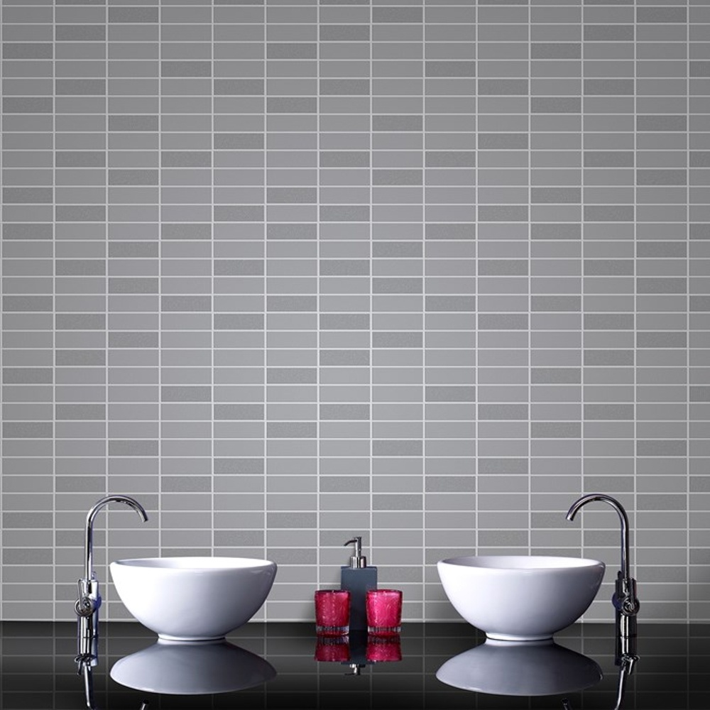 Graham brown tile effect pattern grey glitter vinyl for Gray vinyl wallpaper
