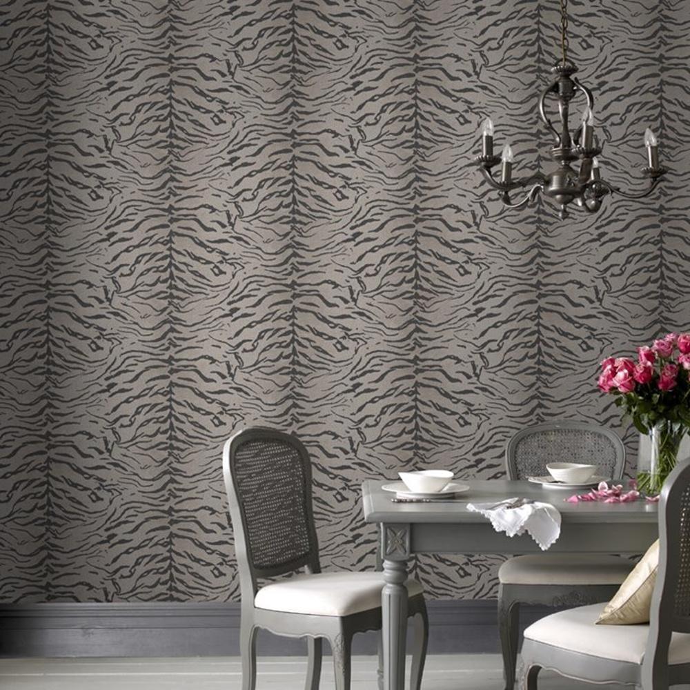 graham brown tiger print pattern animal fur motif. Black Bedroom Furniture Sets. Home Design Ideas