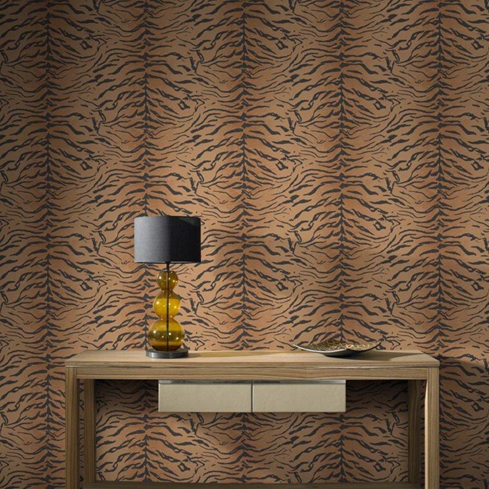 brown tiger print wallpaper - photo #6