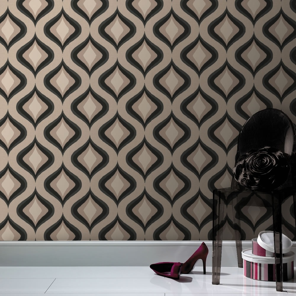 Graham Brown Superfresco Easy Trippy Retro Textured Wallpaper 30 450