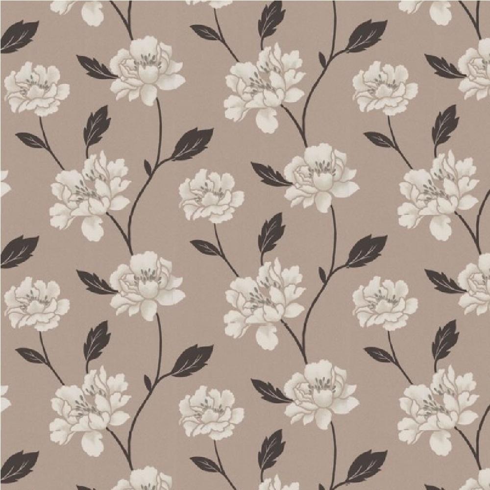 Graham Brown Peony Floral Wallpaper 20 190 Taupebeigecream I
