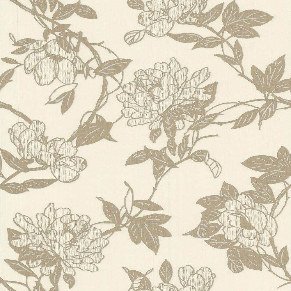 Graham Brown Steve Leung Jiao Floral Wallpaper 31 605 Cream I