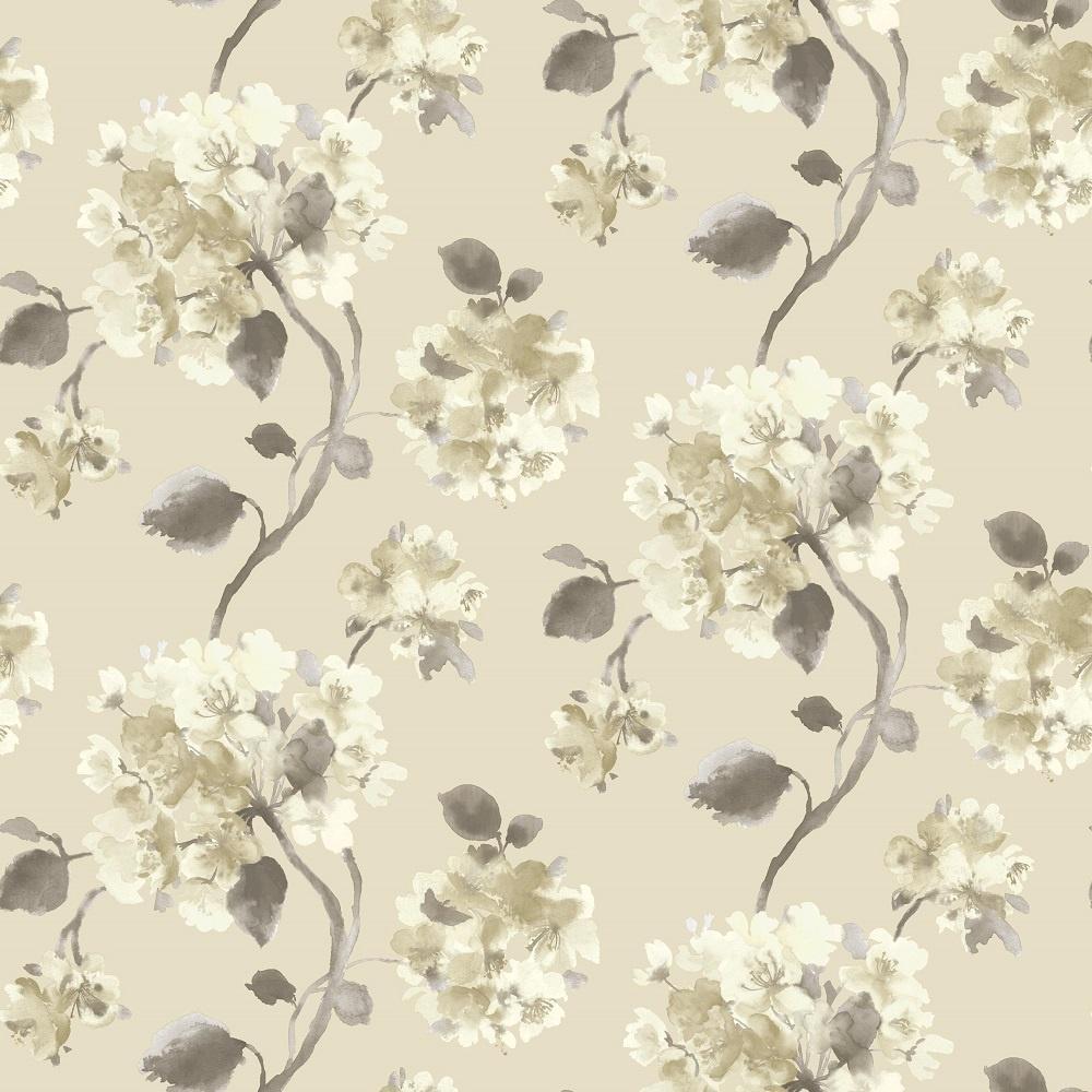 Grandeco Aquarelle Floral Trail Watercolour Flower Wallpaper