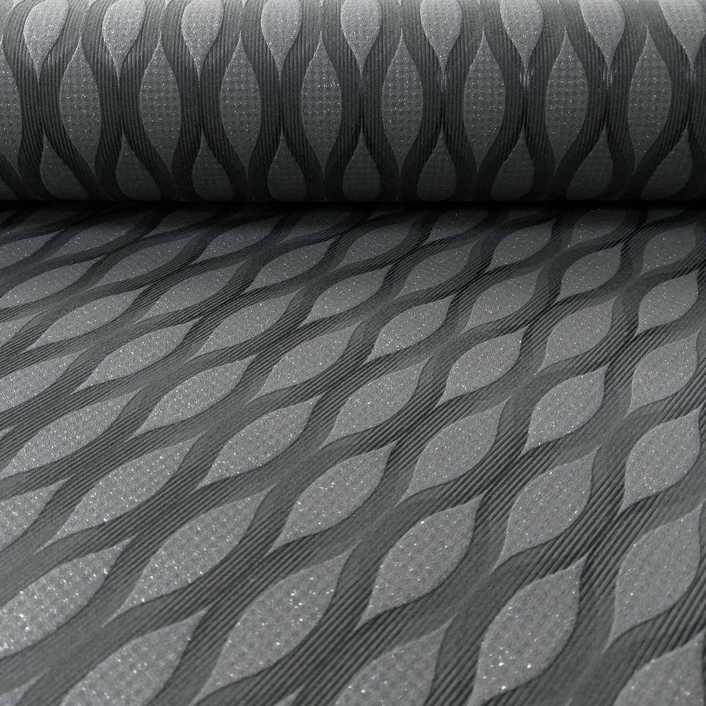 Bien connu Grandeco Art Deco Stripe Pattern Wallpaper Geometric Glitter A25004 VD62