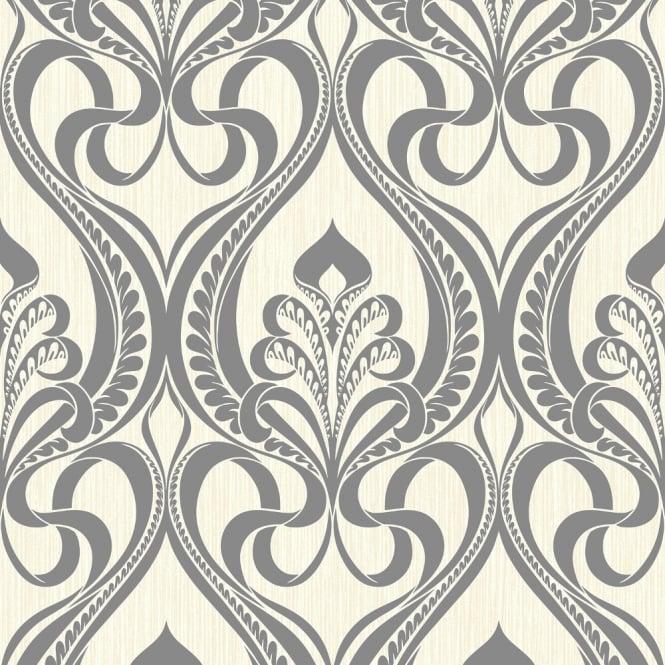 Grandeco Art Nouveau Damask Pattern Wallpaper Art Deco ...