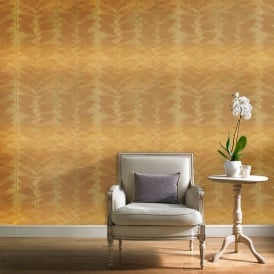 Grandeco Botanical Floral Leaf Pattern Wallpaper Modern Striped Leaves Motif BA2104