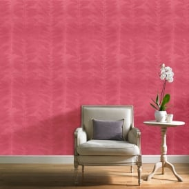 Grandeco Botanical Floral Leaf Pattern Wallpaper Modern Striped Leaves Motif BA2108