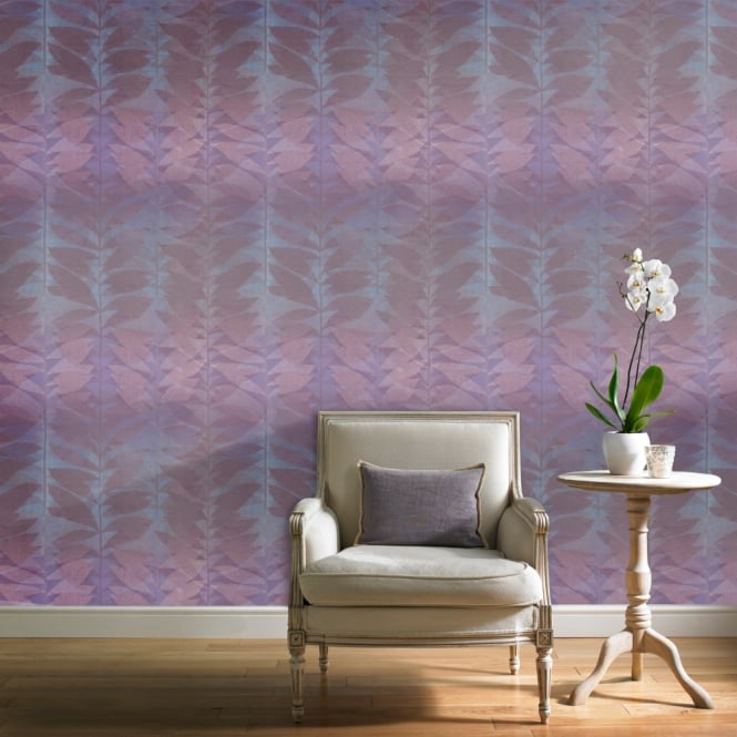 Grandeco Botanical Floral Leaf Pattern Wallpaper Modern Striped Leaves Motif BA2109