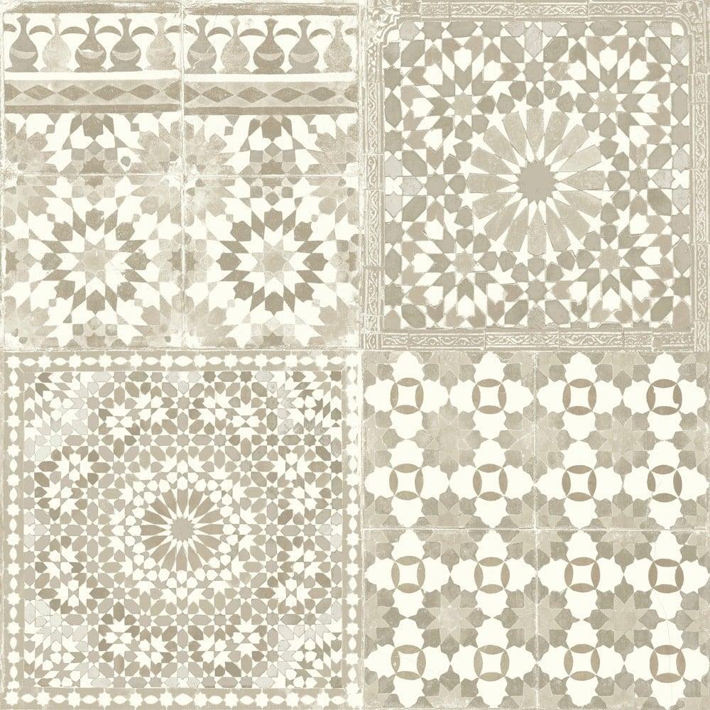 Grandeco Botanical Moroccan Tile Pattern Wallpaper Retro Floral BA2501