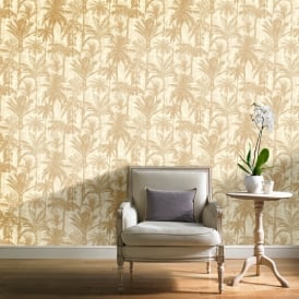 Grandeco Botanical Trees Pattern Wallpaper Forest Leaf Modern Metallic Textured BA2303