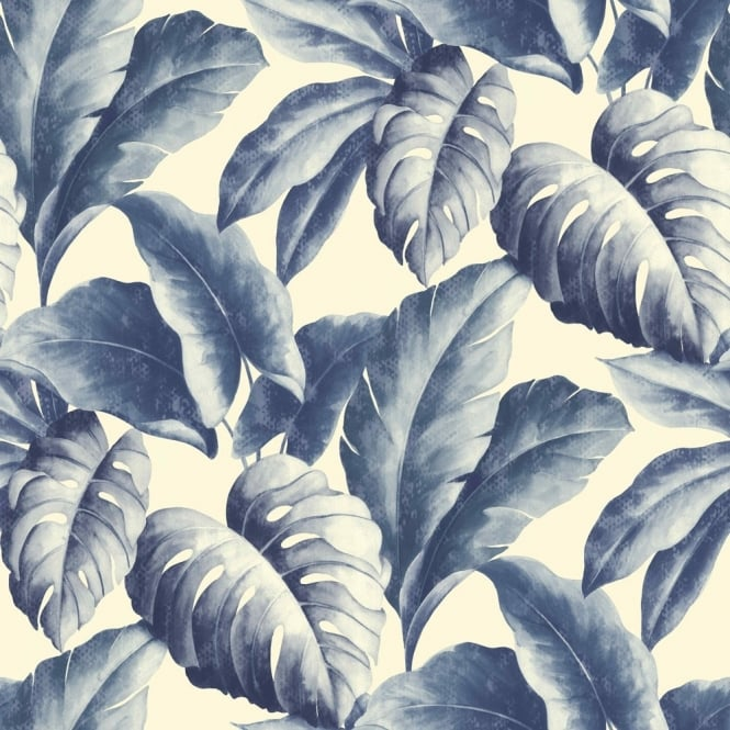 Grandeco Botanical Tropical Leaves Pattern Wallpaper Tree Leaf Textured Motif BA2402
