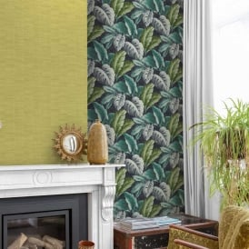 Grandeco Botanical Tropical Leaves Pattern Wallpaper Tree Leaf Textured Motif BA2404