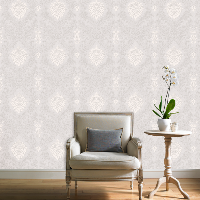 Grandeco Chatsworth Luxury Damask Contemporary Shimmering Glitter Motif Pattern Wallpaper