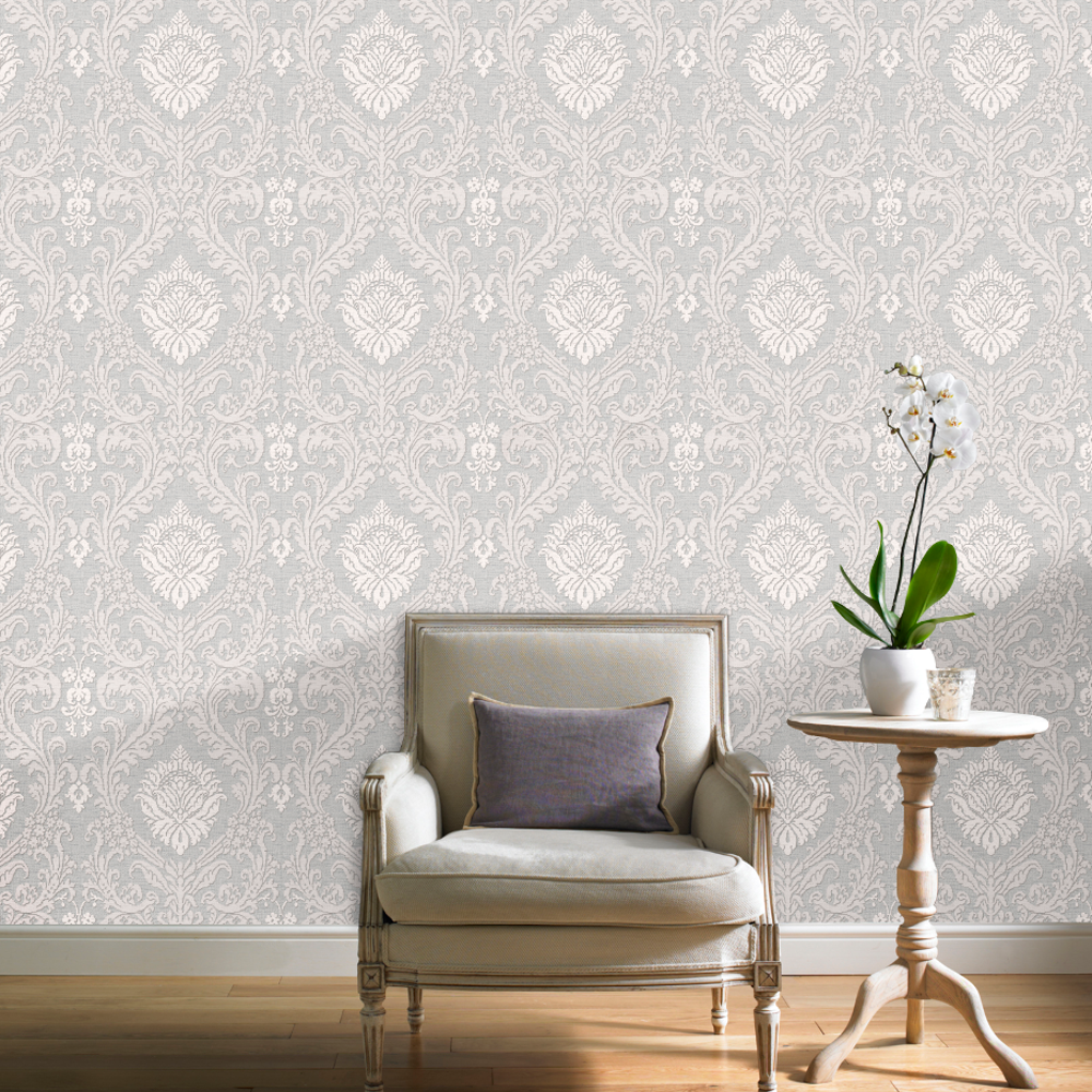 Grandeco Chatsworth Luxury Damask Glitter Motif Wallpaper A28702