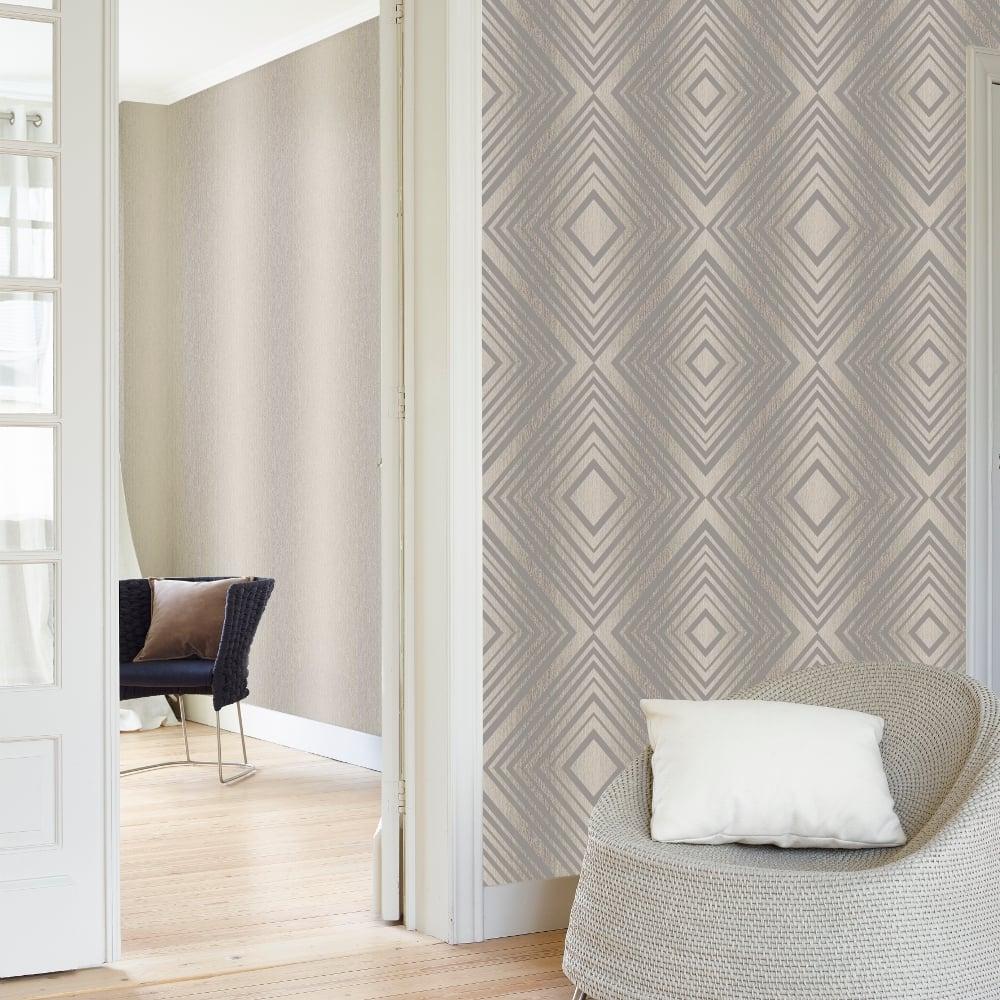 Grandeco chevron stripe pattern wallpaper modern embossed for Chevron wallpaper home uk