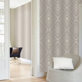 Grandeco Chevron Stripe Pattern Wallpaper Modern Embossed Metallic Glitter Motif A15802