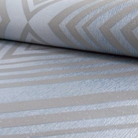 Grandeco Chevron Stripe Pattern Wallpaper Modern Embossed Metallic Glitter Motif A15805