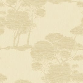 Grandeco Darcy Forest Wood Tree Pattern Wallpaper Metallic Glitter Motif A15701
