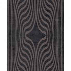 Grandeco Deco Zebra Stripe Designer Glitter Textured Blown Vinyl Wallpaper BOB-19-04-6