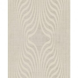 Grandeco Deco Zebra Stripe Designer Glitter Textured Blown Vinyl Wallpaper BOB-19-08-2