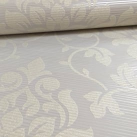 Grandeco Elite Floral Damask Pattern Glitter Motif Embossed Wallpaper A13902