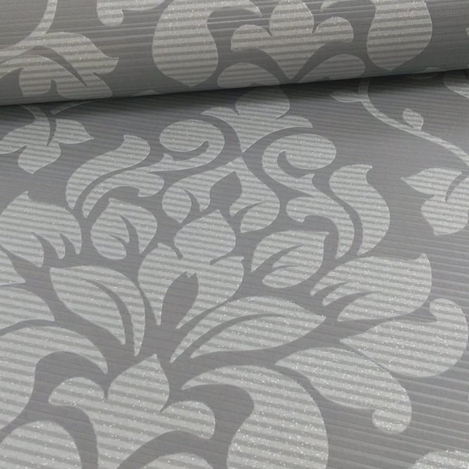 Grandeco Elite Floral Damask Pattern Glitter Motif Embossed Wallpaper A13904