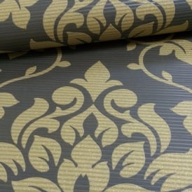 Grandeco Elite Floral Damask Pattern Glitter Motif Embossed Wallpaper A13905