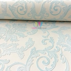 Grandeco Estelle Damask Pattern Wallpaper Glitter Motif Suede Textured A17801
