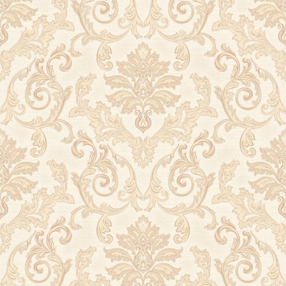 Grandeco Estelle Damask Pattern Wallpaper Glitter Motif