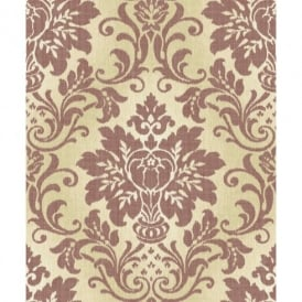Grandeco Fabric Royal Damask Pattern Glitter Motif Textured Wallpaper A10901