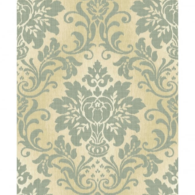 Grandeco Fabric Royal Damask Pattern Glitter Motif Textured Wallpaper A10902