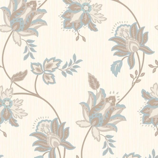 Grandeco Floral Leaf Pattern Wallpaper Metallic Glitter