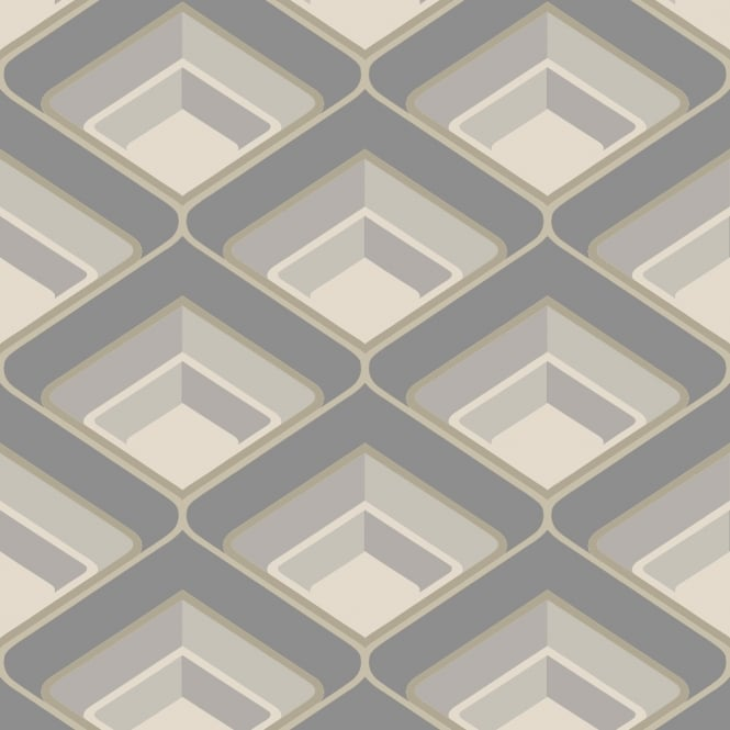 Grandeco Geometric Chevron Stripe Pattern Wallpaper Metallic Silver Glitter Motif A16004