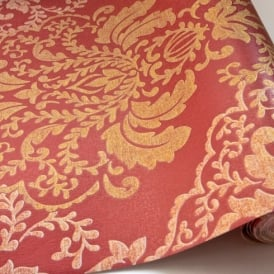 Grandeco Gold Damask Pattern Glitter Motif Textured Embossed Wallpaper BOC-12-10-1