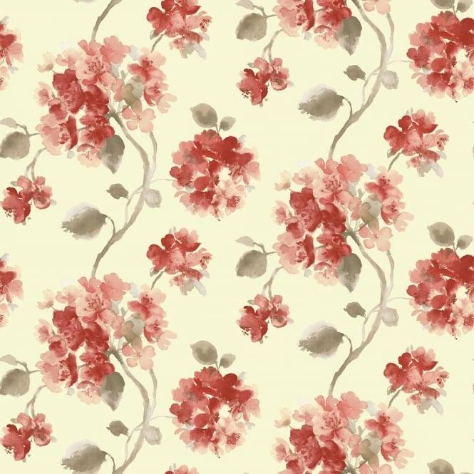 Grandeco Aquarelle Floral Wallpaper POB 006 01 2