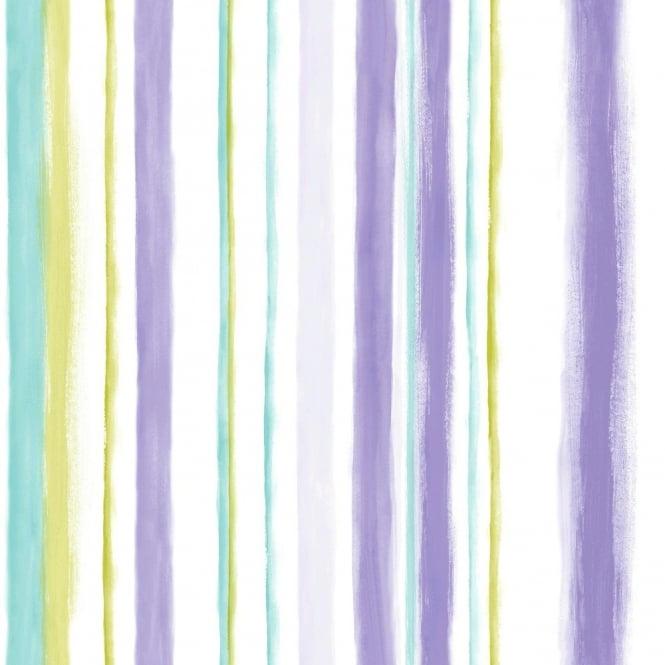 Grandeco Aquarelle Stripe Wallpaper POB-005-04-0